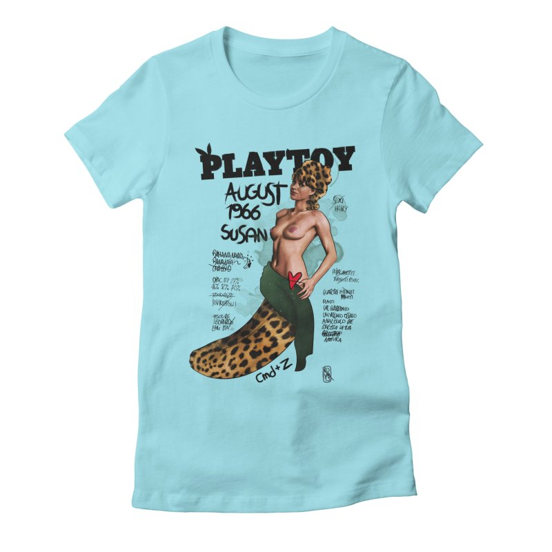 SUSAN 1966 - PLAYTOY Women's Fitted T-Shirt by ZEROSTILE'S ARTIST SHOP