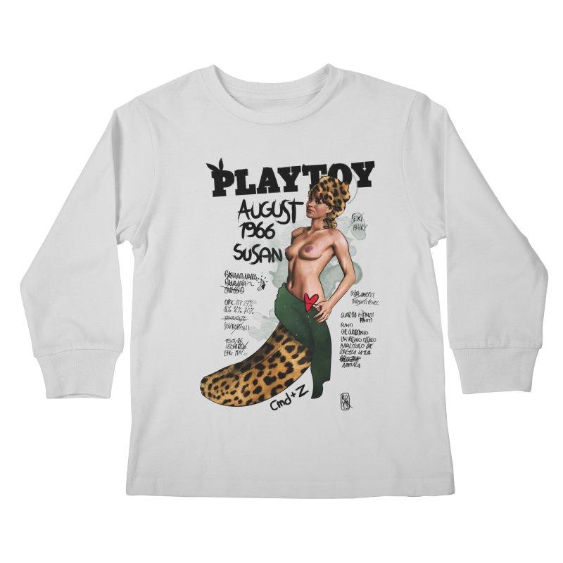 SUSAN 1966 - PLAYTOY Kids Longsleeve T-Shirt by ZEROSTILE'S ARTIST SHOP