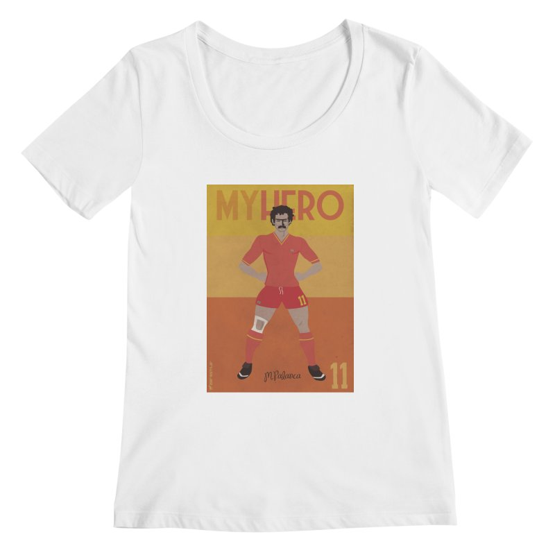 Palanca My Hero Vintage Edition Women's Scoopneck by ZEROSTILE'S ARTIST SHOP
