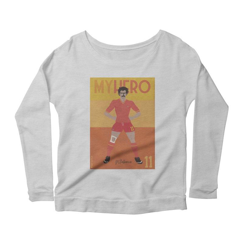 Palanca My Hero Vintage Edition Women's Longsleeve Scoopneck  by ZEROSTILE'S ARTIST SHOP