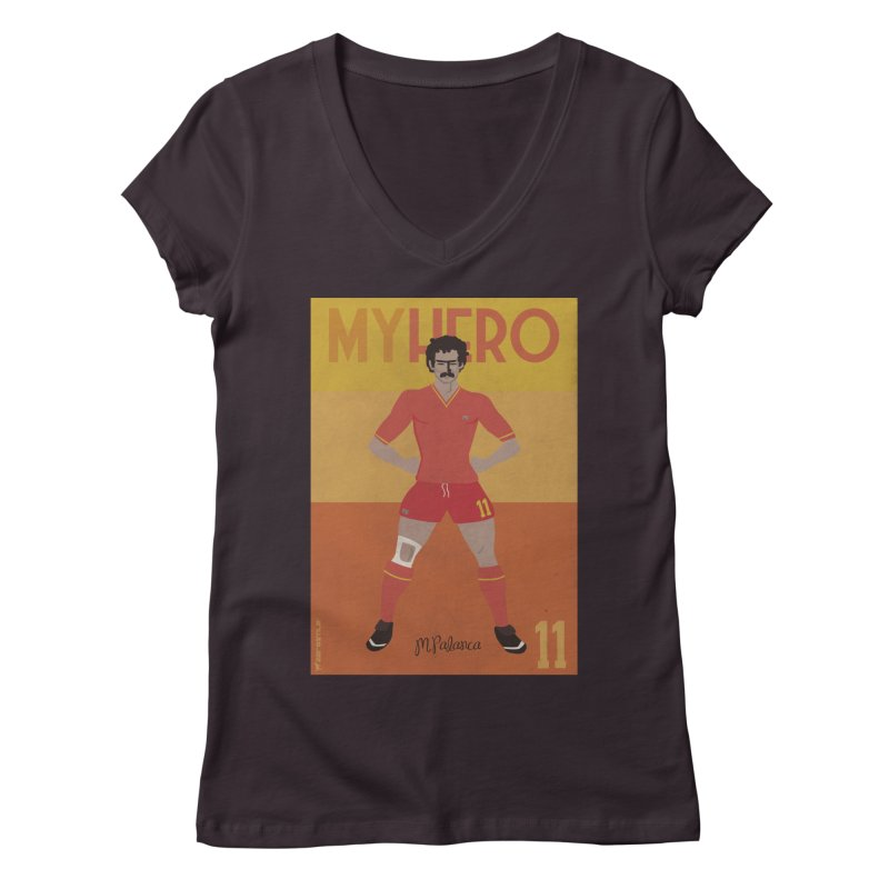 Palanca My Hero Vintage Edition Women's V-Neck by ZEROSTILE'S ARTIST SHOP