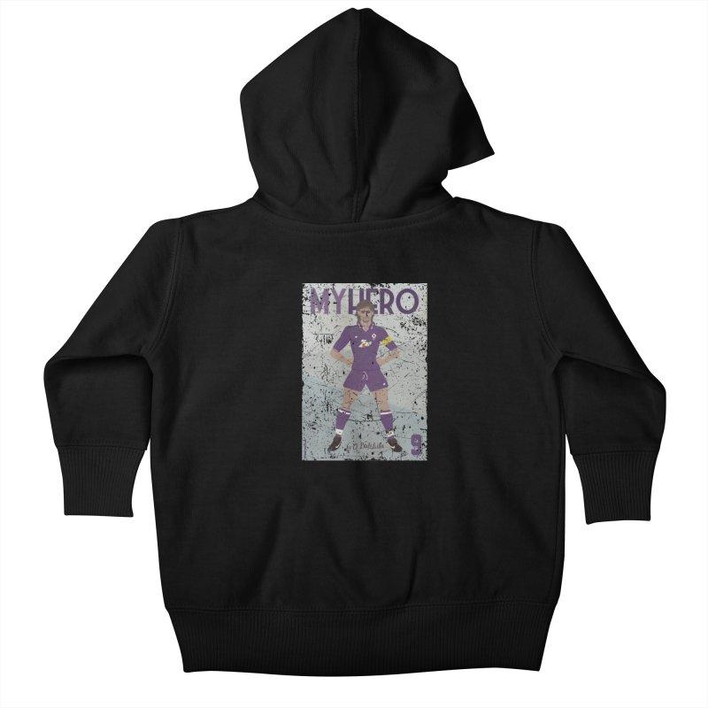 Batistuta My Hero Grunge Edition Kids Baby Zip-Up Hoody by ZEROSTILE'S ARTIST SHOP