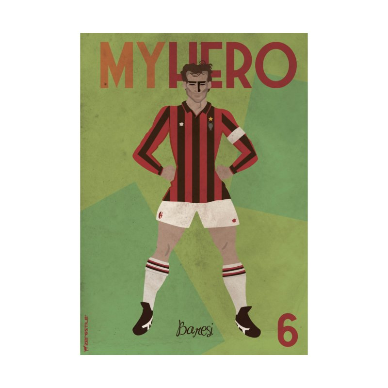 Baresi My Hero Vintage Edition by ZEROSTILE'S ARTIST SHOP