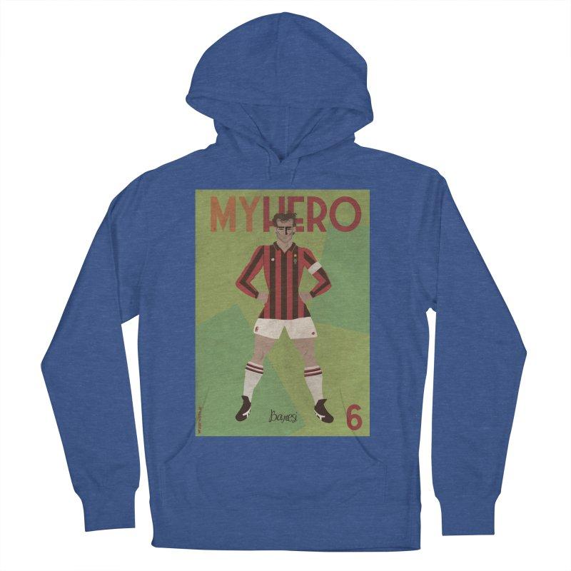 Baresi My Hero Vintage Edition Men's Pullover Hoody by ZEROSTILE'S ARTIST SHOP