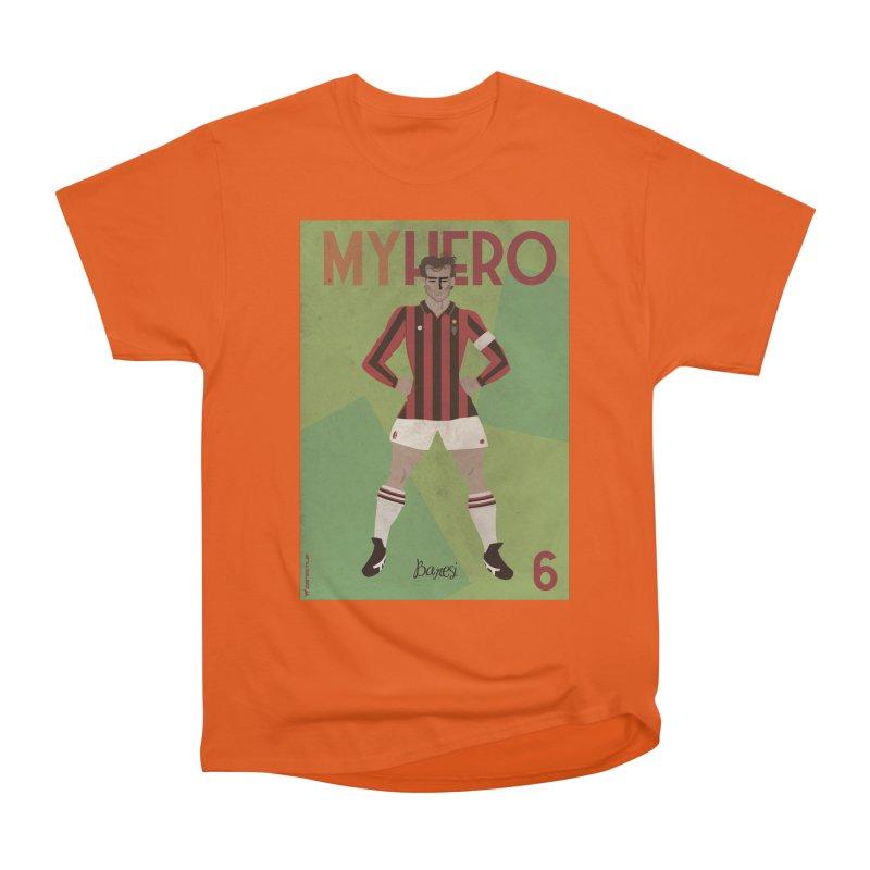 Baresi My Hero Vintage Edition Women's Heavyweight Unisex T-Shirt by ZEROSTILE'S ARTIST SHOP