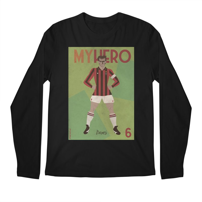 Baresi My Hero Vintage Edition Men's Longsleeve T-Shirt by ZEROSTILE'S ARTIST SHOP
