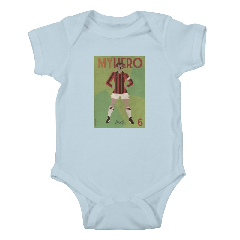 Baresi My Hero Vintage Edition Kids Baby Bodysuit by ZEROSTILE'S ARTIST SHOP