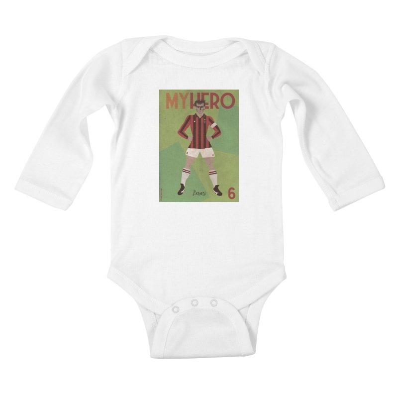 Baresi My Hero Vintage Edition Kids Baby Longsleeve Bodysuit by ZEROSTILE'S ARTIST SHOP