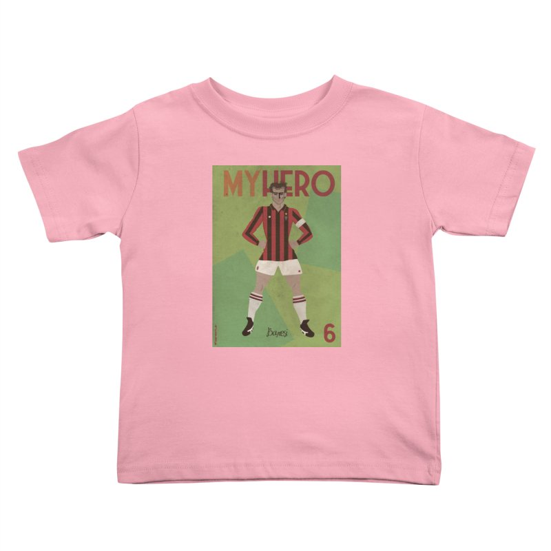 Baresi My Hero Vintage Edition Kids Toddler T-Shirt by ZEROSTILE'S ARTIST SHOP