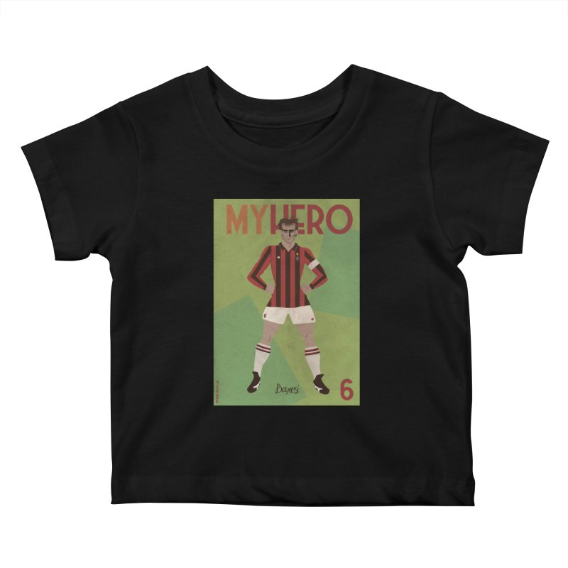 Baresi My Hero Vintage Edition Kids Baby T-Shirt by ZEROSTILE'S ARTIST SHOP