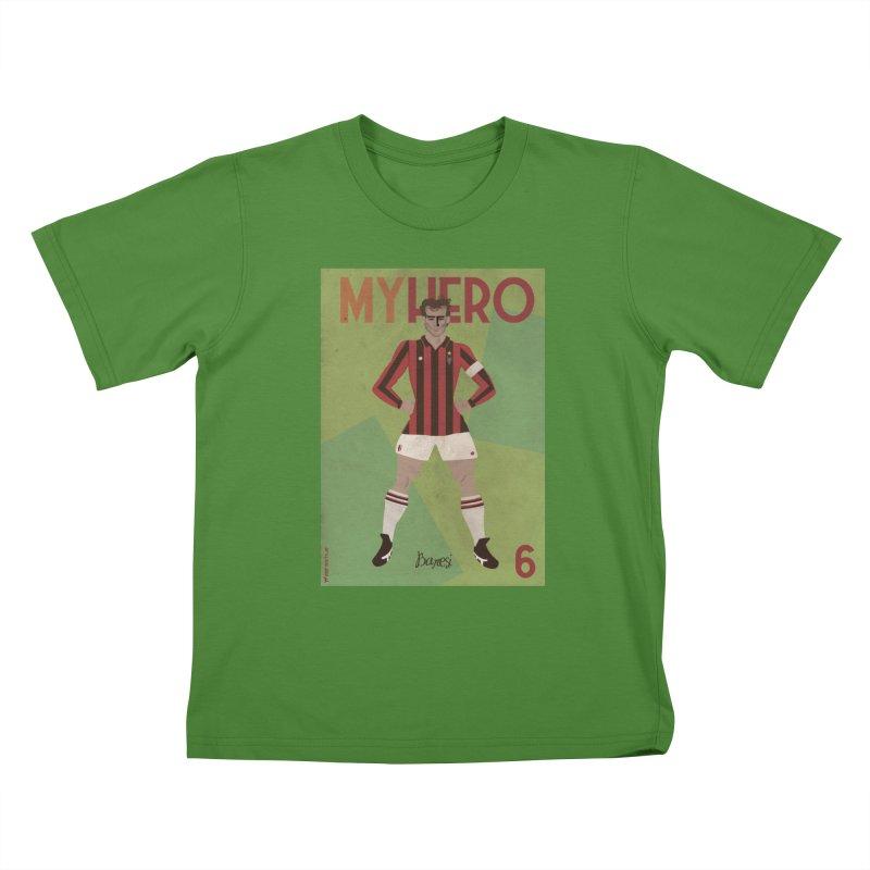 Baresi My Hero Vintage Edition Kids T-shirt by ZEROSTILE'S ARTIST SHOP