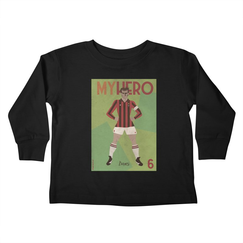 Baresi My Hero Vintage Edition Kids Toddler Longsleeve T-Shirt by ZEROSTILE'S ARTIST SHOP