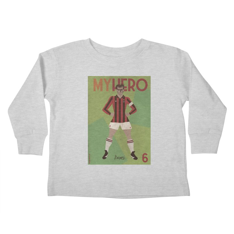 Baresi My Hero Vintage Edition Kids Toddler Longsleeve T-Shirt by ZEROSTILE'S ARTIST SHOP