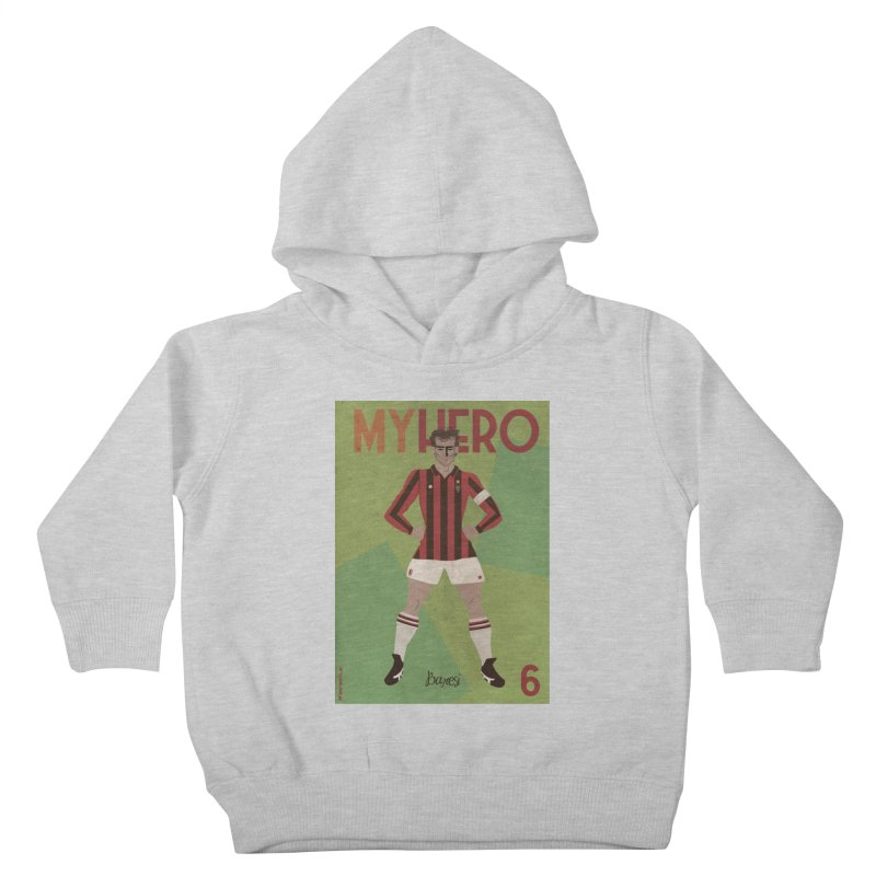 Baresi My Hero Vintage Edition Kids Toddler Pullover Hoody by ZEROSTILE'S ARTIST SHOP