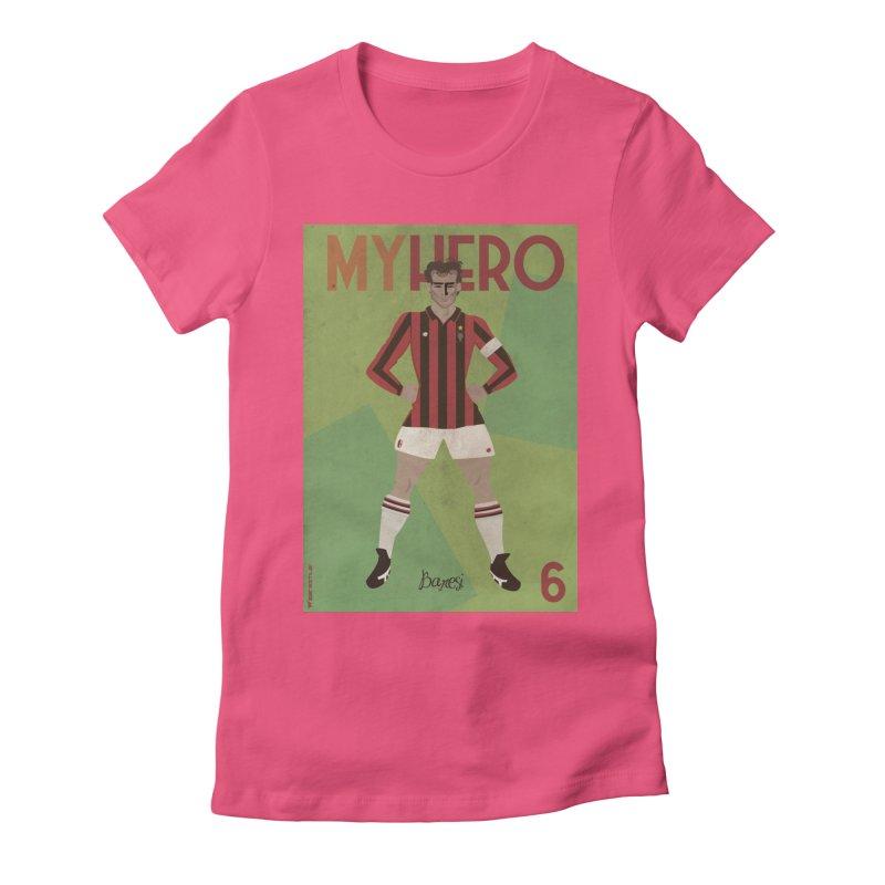 Baresi My Hero Vintage Edition Women's Fitted T-Shirt by ZEROSTILE'S ARTIST SHOP
