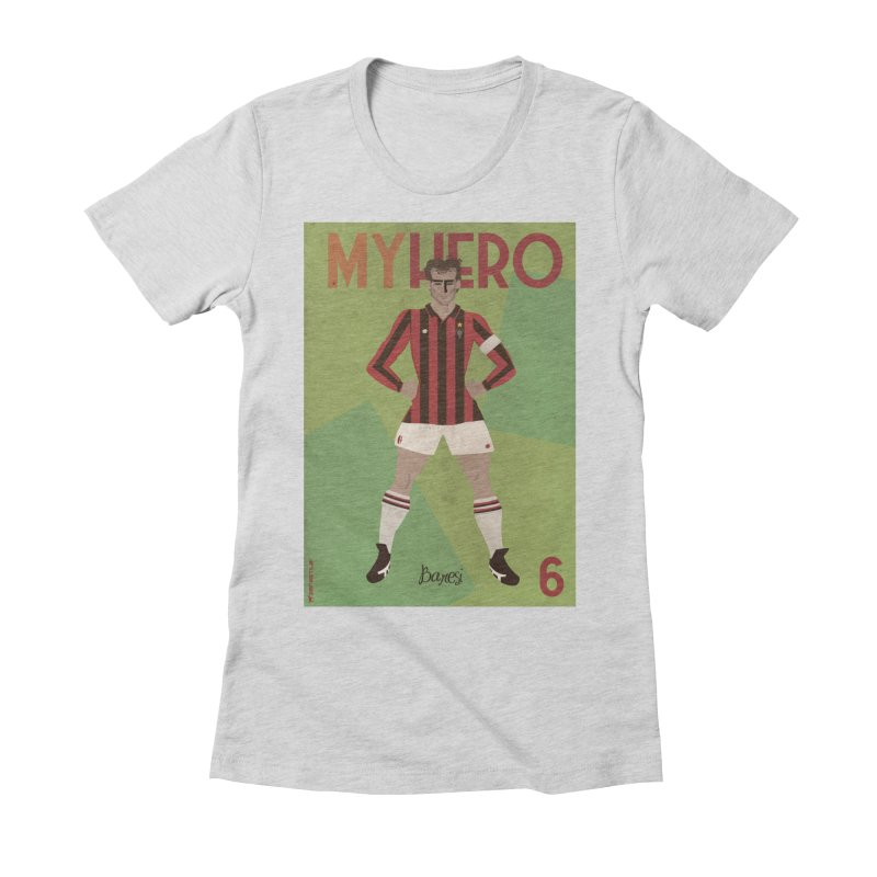 Baresi My Hero Vintage Edition Women's Fitted T-Shirt by ZEROSTILE'S ARTIST SHOP
