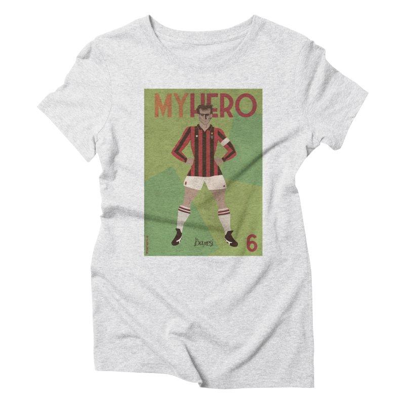 Baresi My Hero Vintage Edition Women's Triblend T-shirt by ZEROSTILE'S ARTIST SHOP