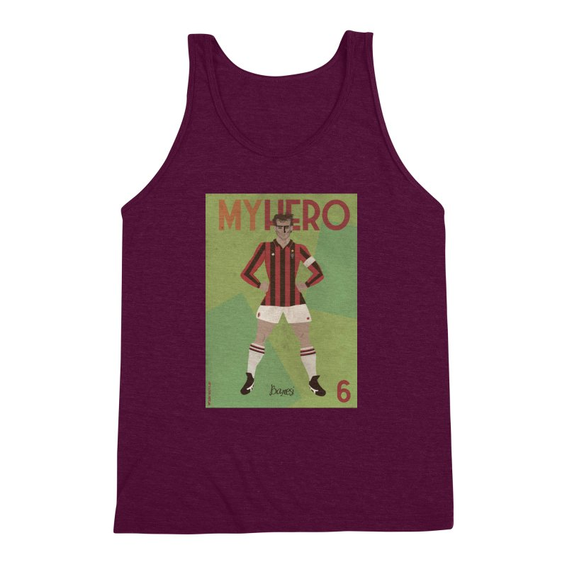 Baresi My Hero Vintage Edition Men's Triblend Tank by ZEROSTILE'S ARTIST SHOP