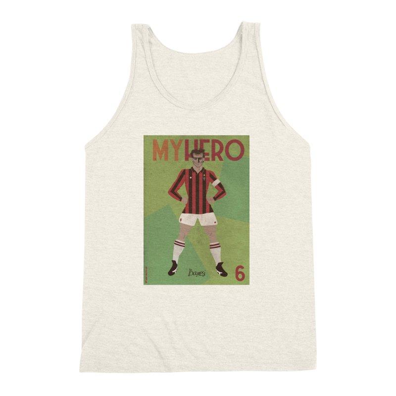 Baresi My Hero Vintage Edition Men's Triblend Tank by ZEROSTILE'S ARTIST SHOP