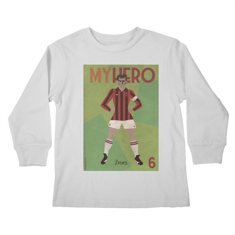 Baresi My Hero Vintage Edition Kids Longsleeve T-Shirt by ZEROSTILE'S ARTIST SHOP
