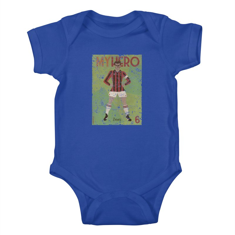 Baresi My Hero Grunge Edition Kids Baby Bodysuit by ZEROSTILE'S ARTIST SHOP