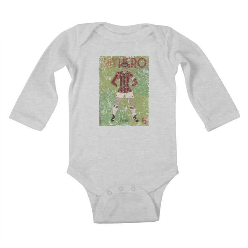 Baresi My Hero Grunge Edition Kids Baby Longsleeve Bodysuit by ZEROSTILE'S ARTIST SHOP