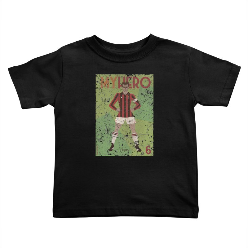 Baresi My Hero Grunge Edition Kids Toddler T-Shirt by ZEROSTILE'S ARTIST SHOP