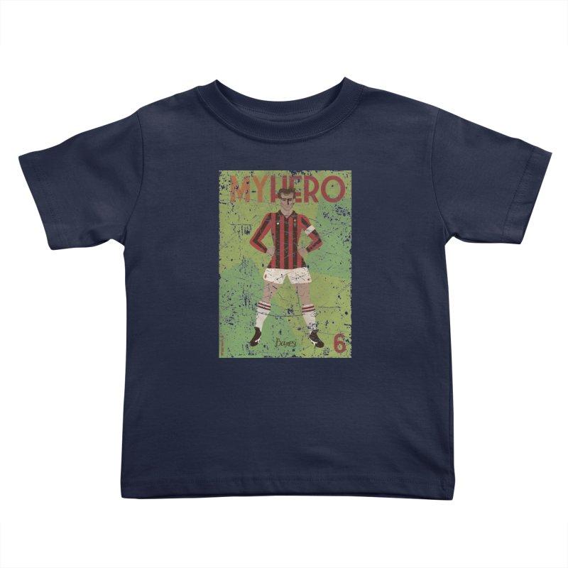 Baresi My Hero Grunge Edition Kids Toddler T-Shirt by ZEROSTILE'S ARTIST SHOP