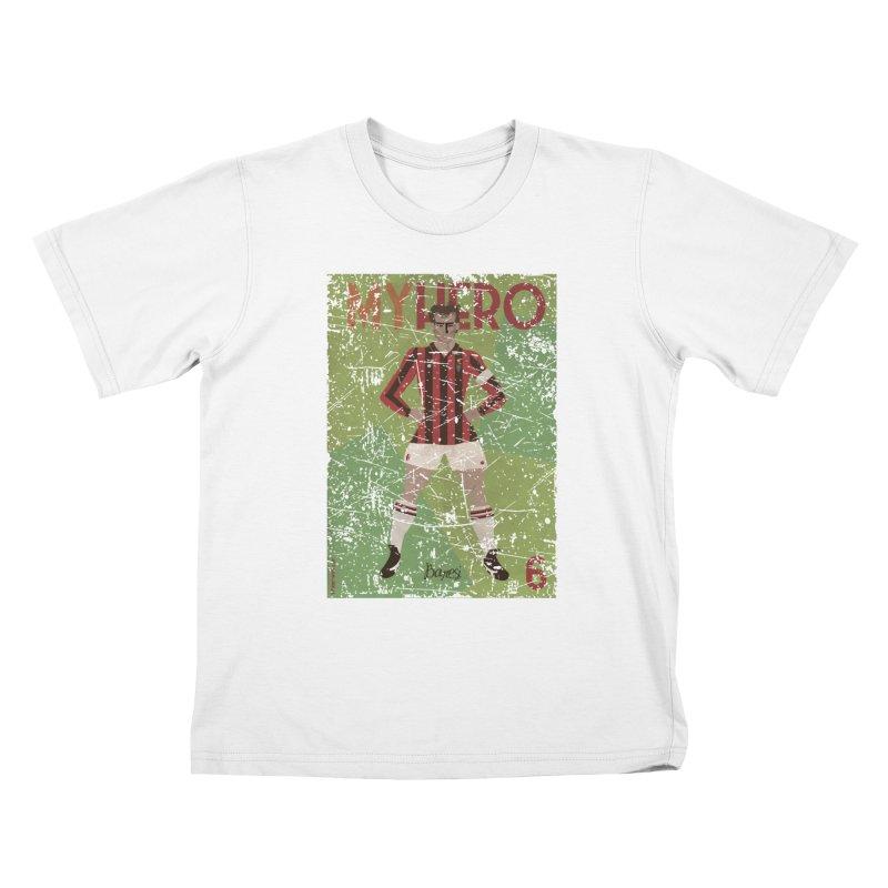 Baresi My Hero Grunge Edition Kids T-Shirt by ZEROSTILE'S ARTIST SHOP
