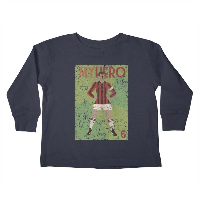 Baresi My Hero Grunge Edition Kids Toddler Longsleeve T-Shirt by ZEROSTILE'S ARTIST SHOP