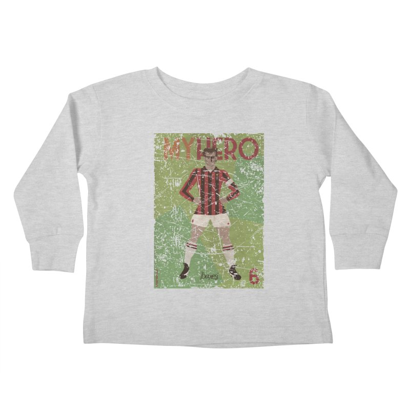 Baresi My Hero Grunge Edition Kids Toddler Longsleeve T-Shirt by ZEROSTILE'S ARTIST SHOP