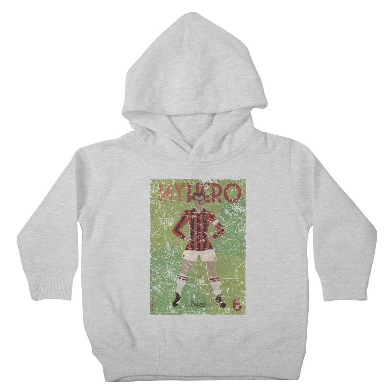 Baresi My Hero Grunge Edition Kids Toddler Pullover Hoody by ZEROSTILE'S ARTIST SHOP