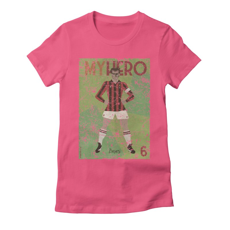 Baresi My Hero Grunge Edition Women's Fitted T-Shirt by ZEROSTILE'S ARTIST SHOP