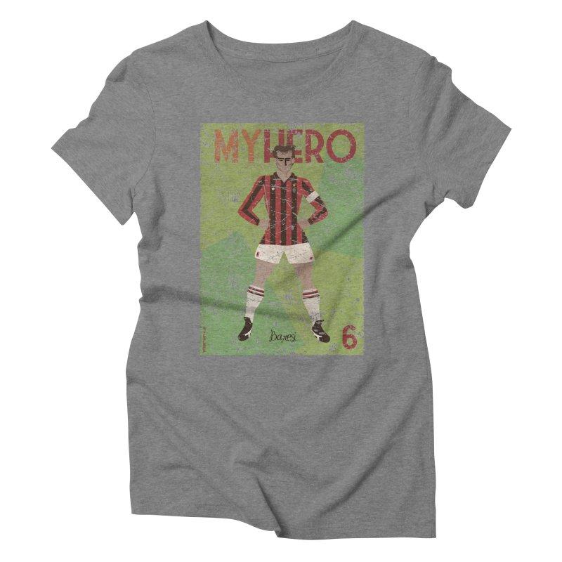 Baresi My Hero Grunge Edition Women's Triblend T-Shirt by ZEROSTILE'S ARTIST SHOP
