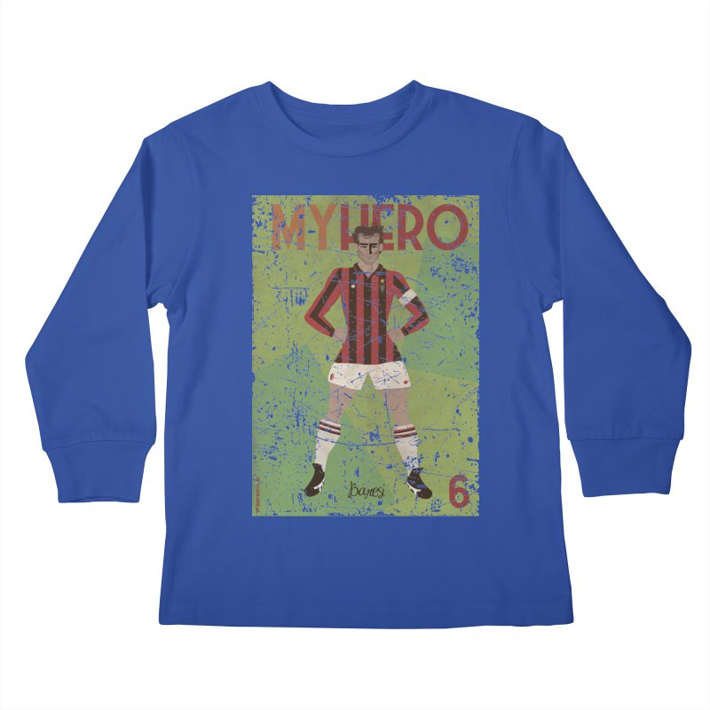 Baresi My Hero Grunge Edition Kids Longsleeve T-Shirt by ZEROSTILE'S ARTIST SHOP