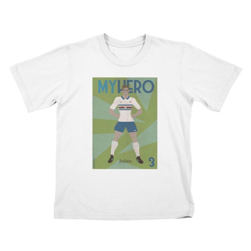 Katanec MyHero Vintage Edition Kids T-shirt by ZEROSTILE'S ARTIST SHOP