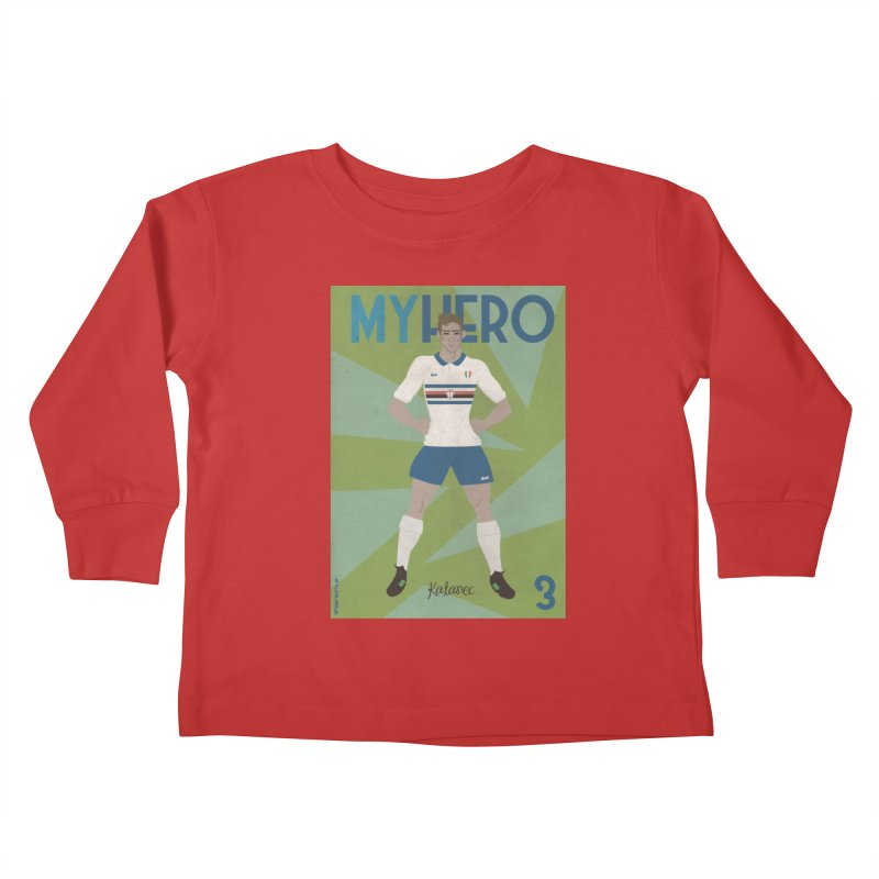 Katanec MyHero Vintage Edition Kids Toddler Longsleeve T-Shirt by ZEROSTILE'S ARTIST SHOP