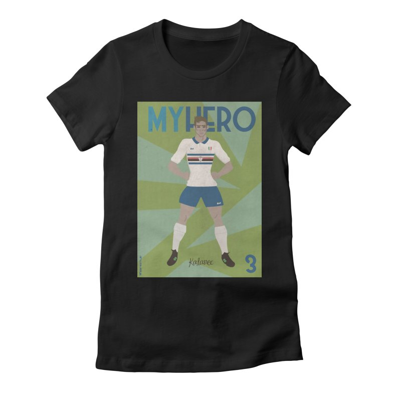 Katanec MyHero Vintage Edition Women's Fitted T-Shirt by ZEROSTILE'S ARTIST SHOP