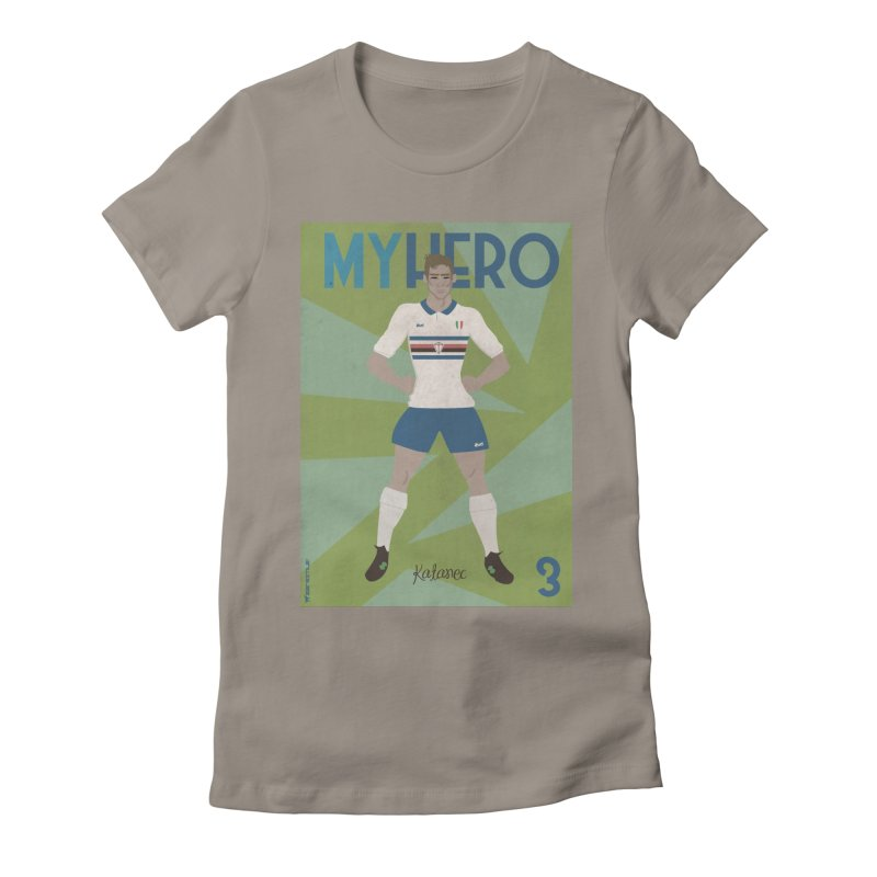 Katanec MyHero Vintage Edition Women's Fitted T-Shirt by ZEROSTILE'S ARTIST SHOP