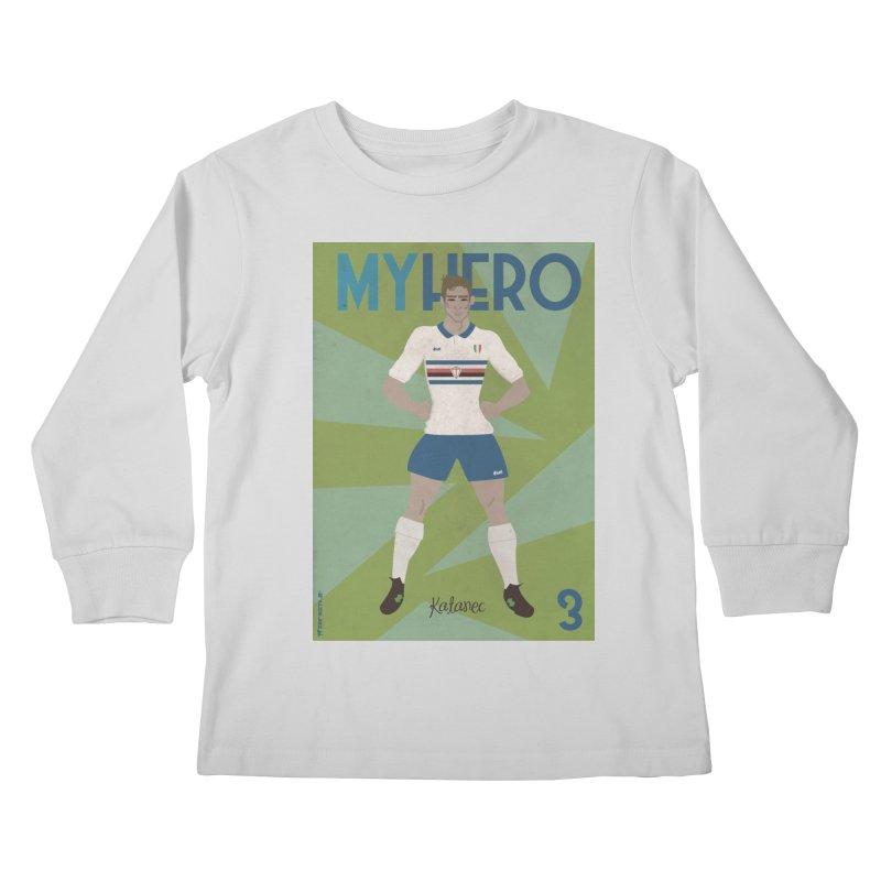 Katanec MyHero Vintage Edition Kids Longsleeve T-Shirt by ZEROSTILE'S ARTIST SHOP