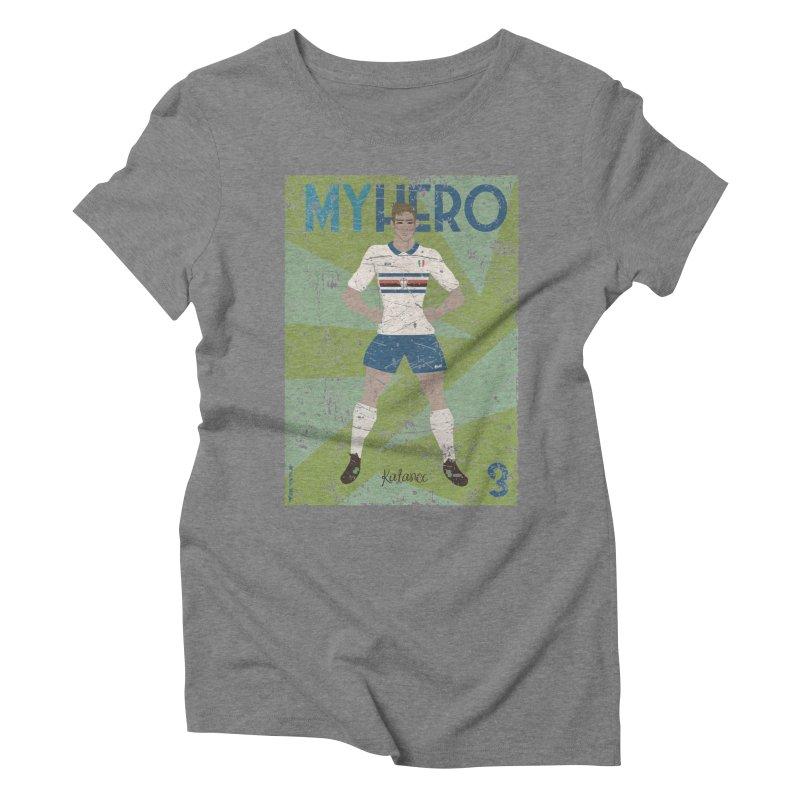 Katanec My Hero Grunge Edition Women's Triblend T-Shirt by ZEROSTILE'S ARTIST SHOP