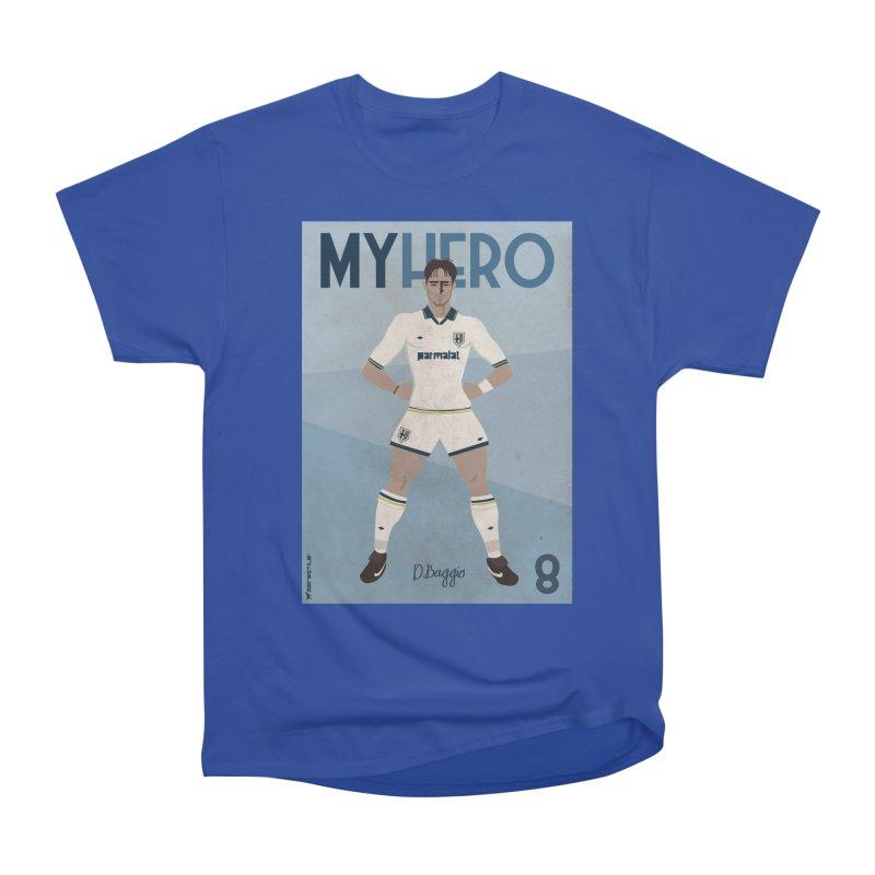 Dino Baggio My Hero Vintage Edition Women's Heavyweight Unisex T-Shirt by ZEROSTILE'S ARTIST SHOP
