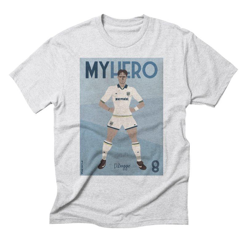 Dino Baggio My Hero Vintage Edition Men's Triblend T-Shirt by ZEROSTILE'S ARTIST SHOP