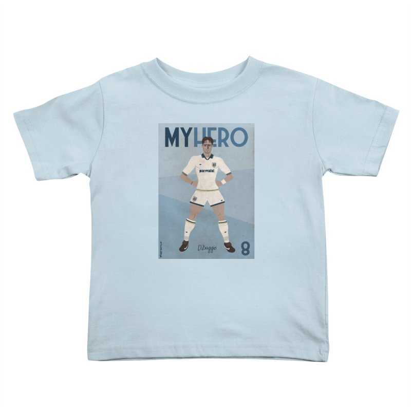 Dino Baggio My Hero Vintage Edition Kids Toddler T-Shirt by ZEROSTILE'S ARTIST SHOP