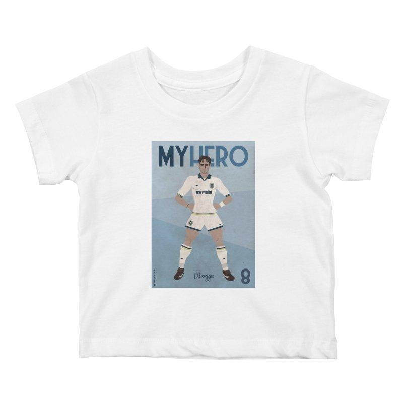 Dino Baggio My Hero Vintage Edition Kids Baby T-Shirt by ZEROSTILE'S ARTIST SHOP