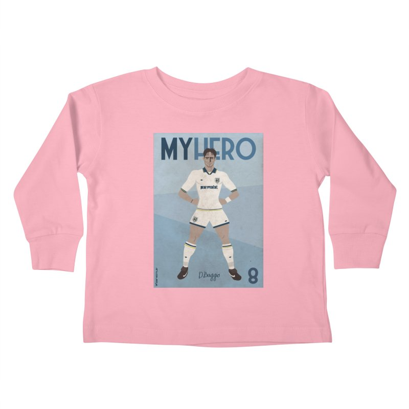 Dino Baggio My Hero Vintage Edition Kids Toddler Longsleeve T-Shirt by ZEROSTILE'S ARTIST SHOP