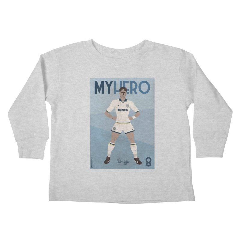 Dino Baggio My Hero Vintage Edition Kids Toddler Longsleeve T-Shirt by ZEROSTILE'S ARTIST SHOP