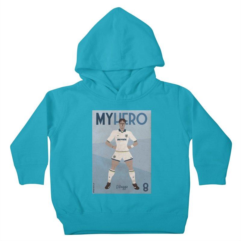 Dino Baggio My Hero Vintage Edition Kids Toddler Pullover Hoody by ZEROSTILE'S ARTIST SHOP