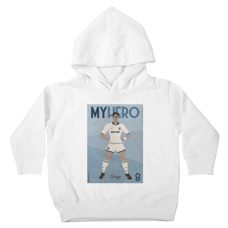 Dino Baggio My Hero Vintage Edition Kids Toddler Pullover Hoody by ZEROSTILE'S ARTIST SHOP