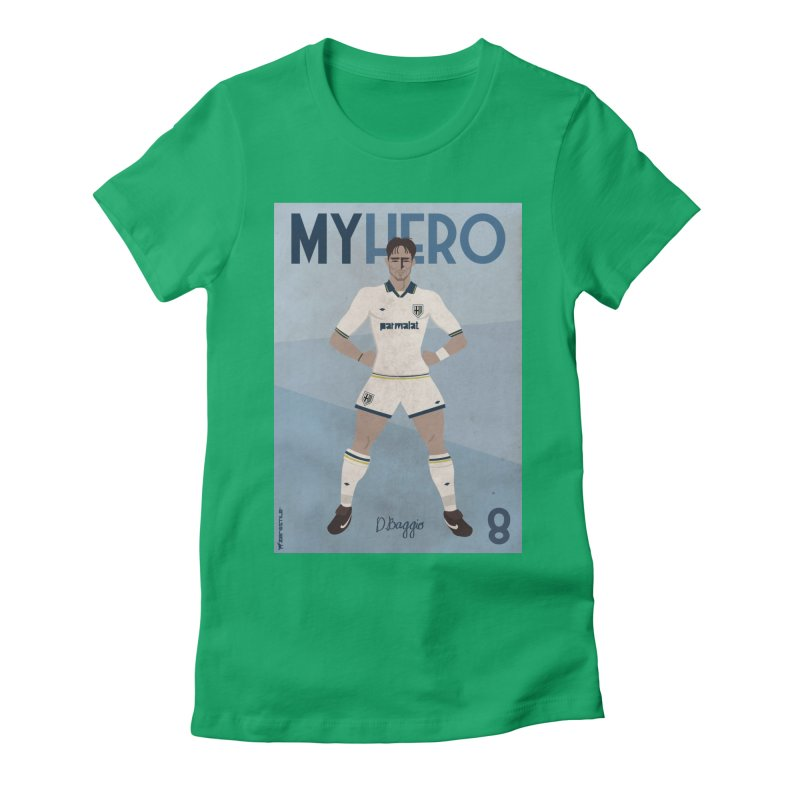 Dino Baggio My Hero Vintage Edition Women's Fitted T-Shirt by ZEROSTILE'S ARTIST SHOP